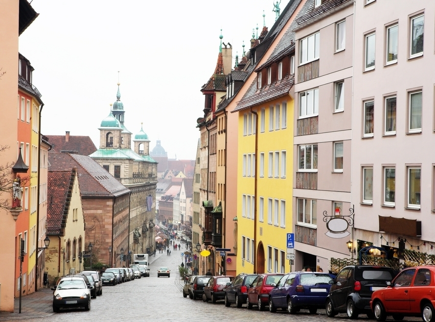A lively German city with old and new use buildings